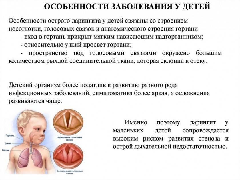 Ларингит у детей: симптомы и лечение в домашних условиях (список препаратов и антибиотиков)