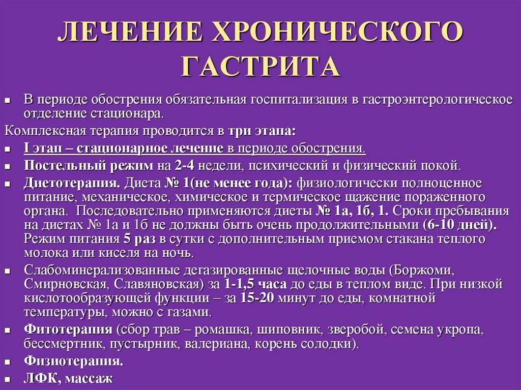 Хронический гастрит и дуоденит