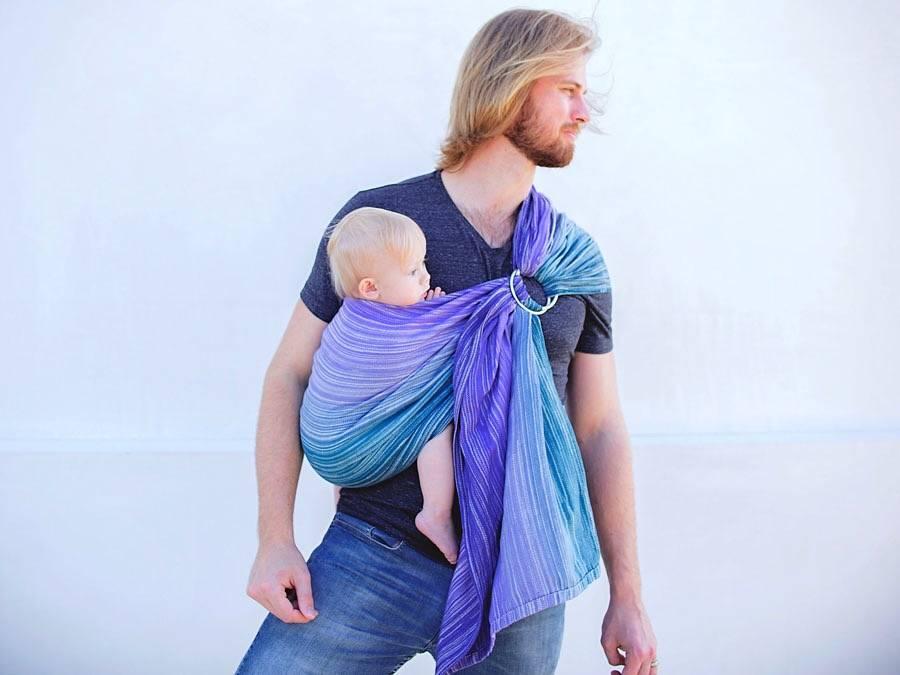 Слинг с кольцами для новорожденных: что это, как правильно пользоваться (завязать и носить)
