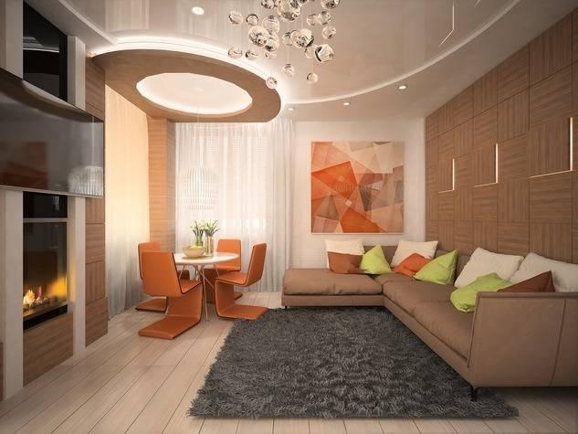 Дизайн гостиной и детской в одной комнате — зонирование интерьера