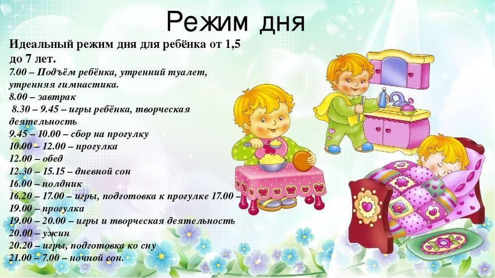 Режим дня с 1-1,5 лет   сообщество «дети от года до 3-х лет»   для мам