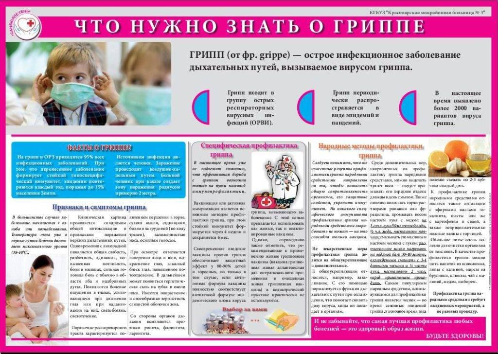 Профилактика орви и гриппа у детей, лечение, список препаратов, общие рекомендации.