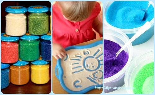 Цветной песок своими руками: способы его изготовления для свадьбы из соли и манки в нашем пошаговом мк (с фото и видео)