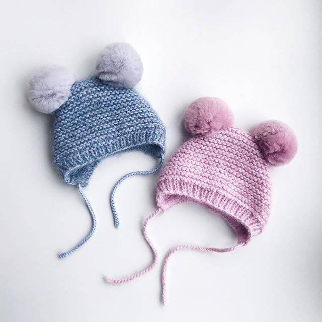Шапочка крючком для новорожденного: схема и описанием