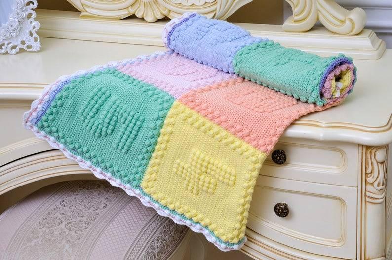 Детский плед спицами: схемы с описаниями того, как связать одеялко с фото и видео