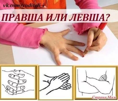 Правша или левша: как определить ведущую руку ребенка