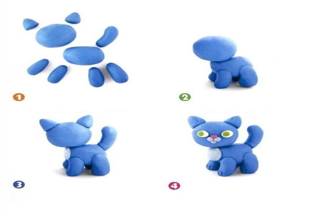Поделки из пластилина для детей 4-6 лет пошагово с фото