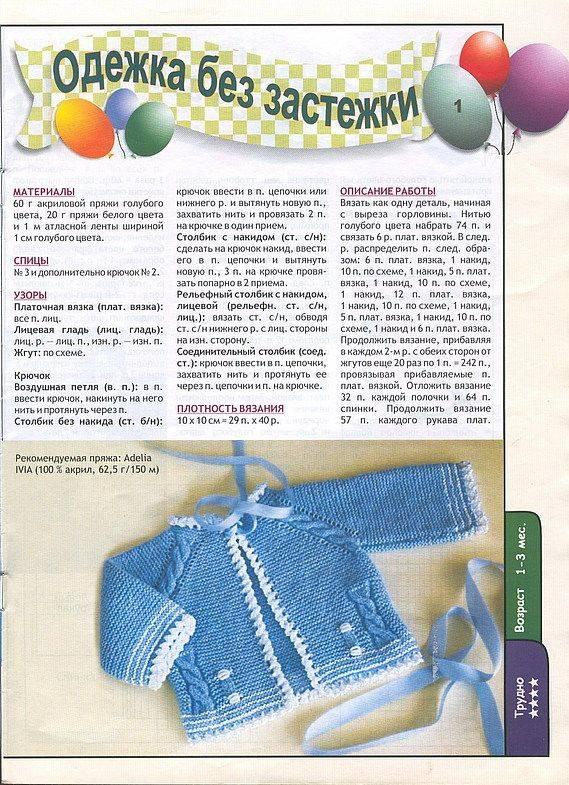 Начинаем вязать кофточки для малышей с ажурной линией реглана (обновила 2 ноября) - вяжем вместе он-лайн - страна мам