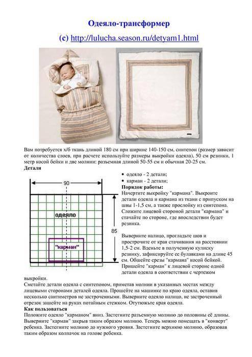 Вязаный конверт на выписку для новорожденных зимой