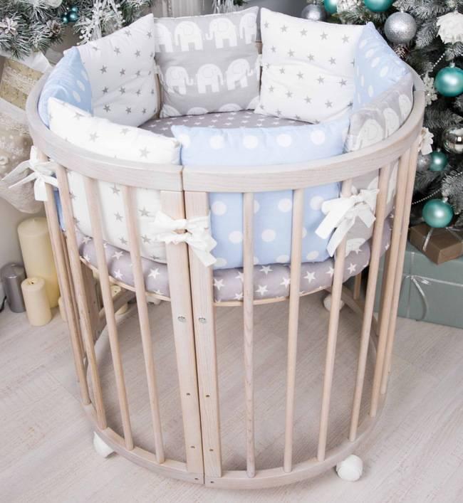 Круглая кроватка-трансформер для новорожденных: 30 фото с размерами