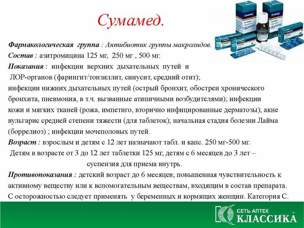 Препарат Сумамед – «стартовый» антибиотик для детей и подростков