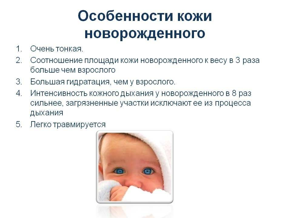 Кожа у новорожденного: строение, болезни, правильный уход