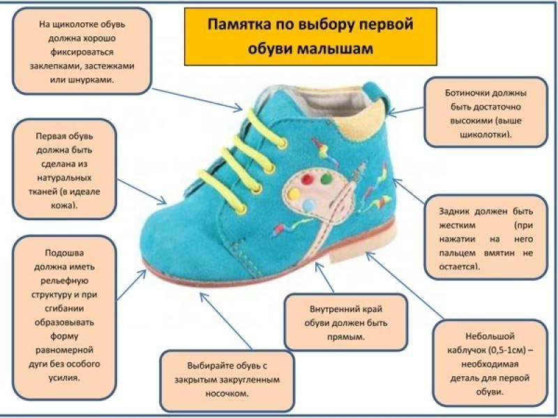 Как выбрать хорошую первую обувь ребенку, только начинающему ходить