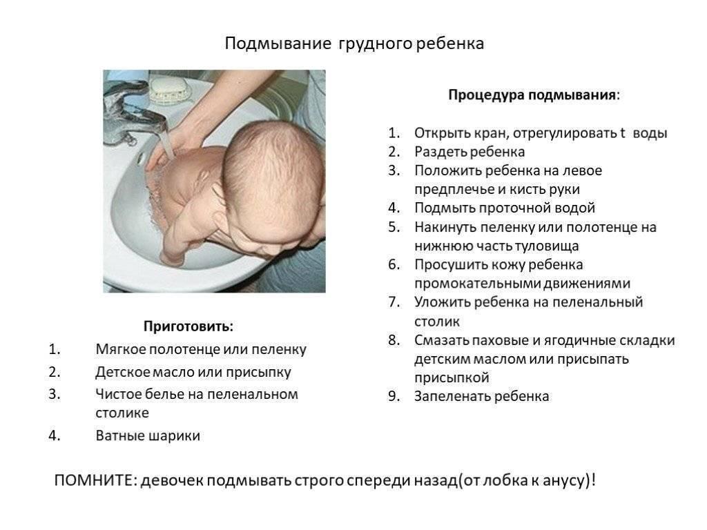 Как подмывать новорожденную девочку в картинках: комаровский