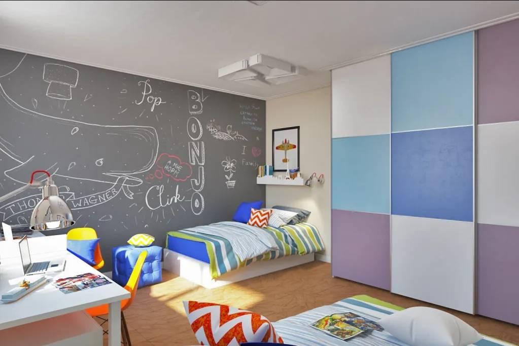 Обои для подростковой комнаты мальчика: фото, сюжеты, оформление