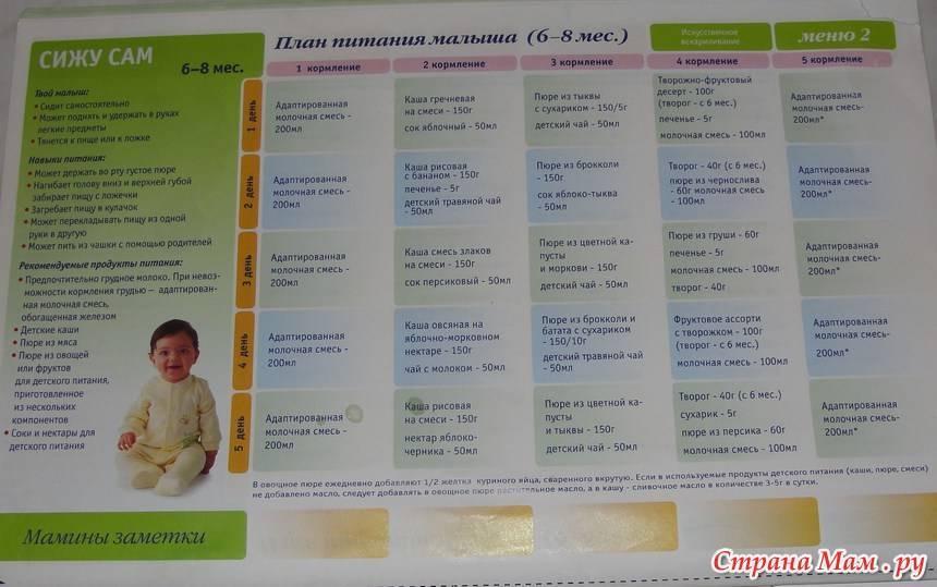 Питание ребенка в 9 месяцев: таблица питания и примерное меню на неделю. 120 фото лучших рецептов и описание их приготовления