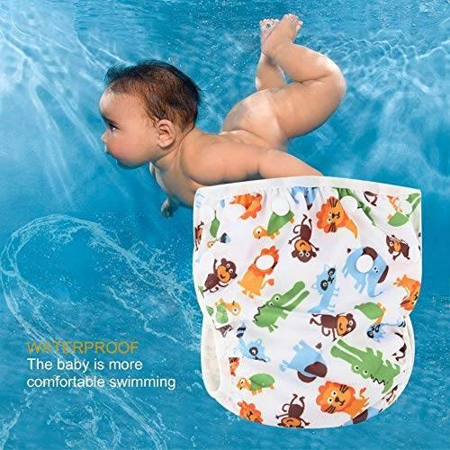 Памперсы для купания в бассейне: трусики подгузники для плавания (многоразовые)