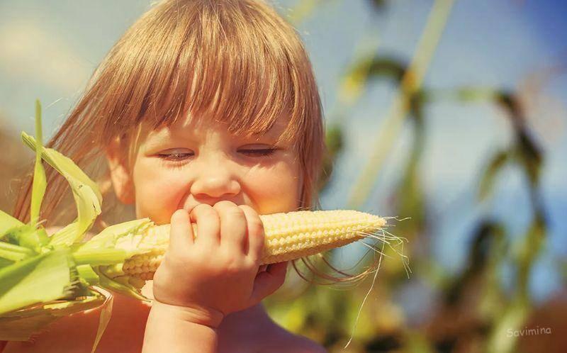 Со скольки лет может включаться вареная кукуруза ребенку в рацион?