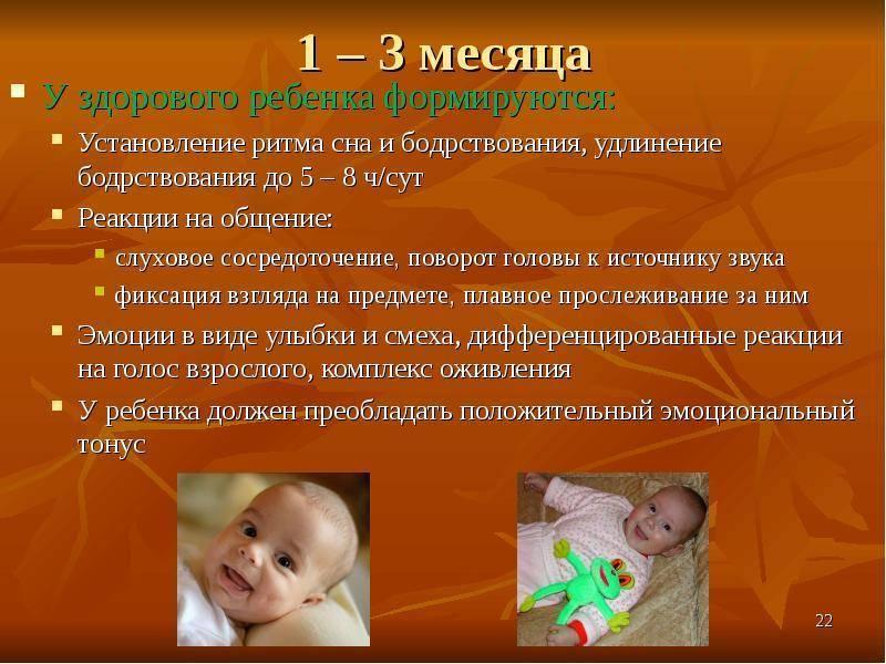 Календарь развития ребёнка по месяцам до года