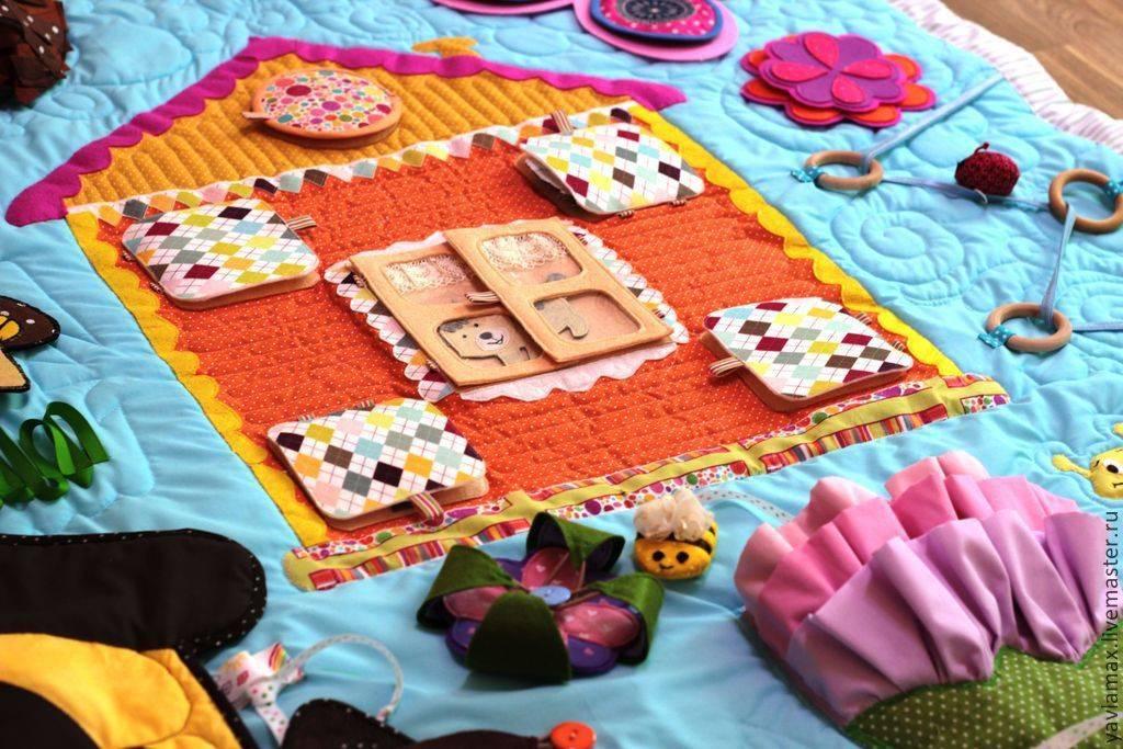 Развивающий коврик своими руками для самых маленьких: пошаговая инструкция