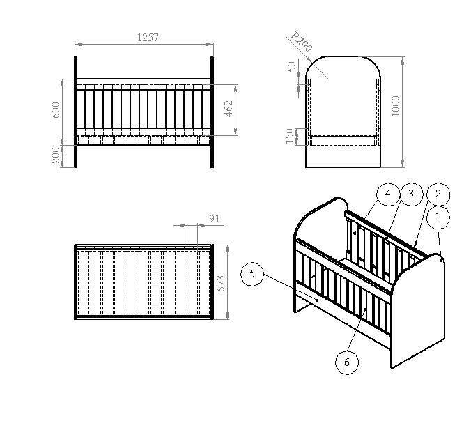 Размеры детской кроватки: стандартные габариты для кровати, ширина и длина для ребенка от 3 лет, чертежи моделей 160х80 и 90х200, 160х70 и других вариантов