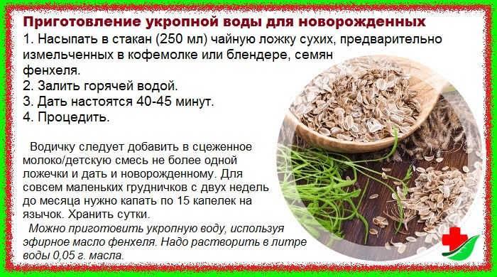 Укропная вода для новорожденных: способ приготовления, как давать от коликов / mama66.ru