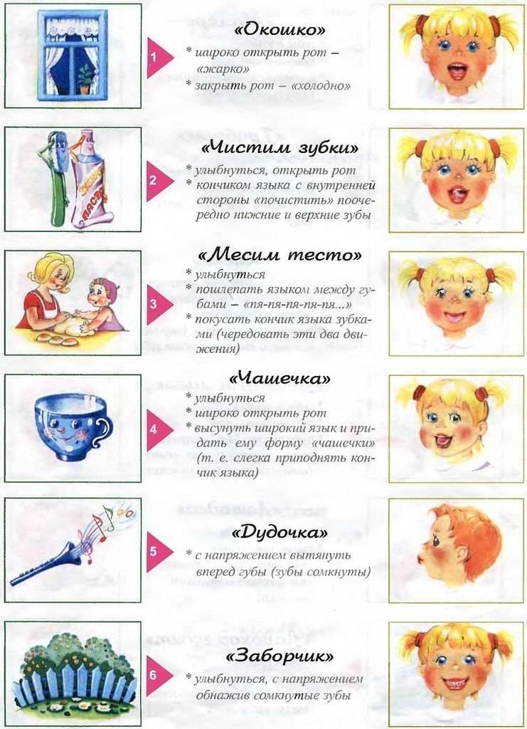Значение гимнастики для языка в развитии речи для детей 5 – 6 лет
