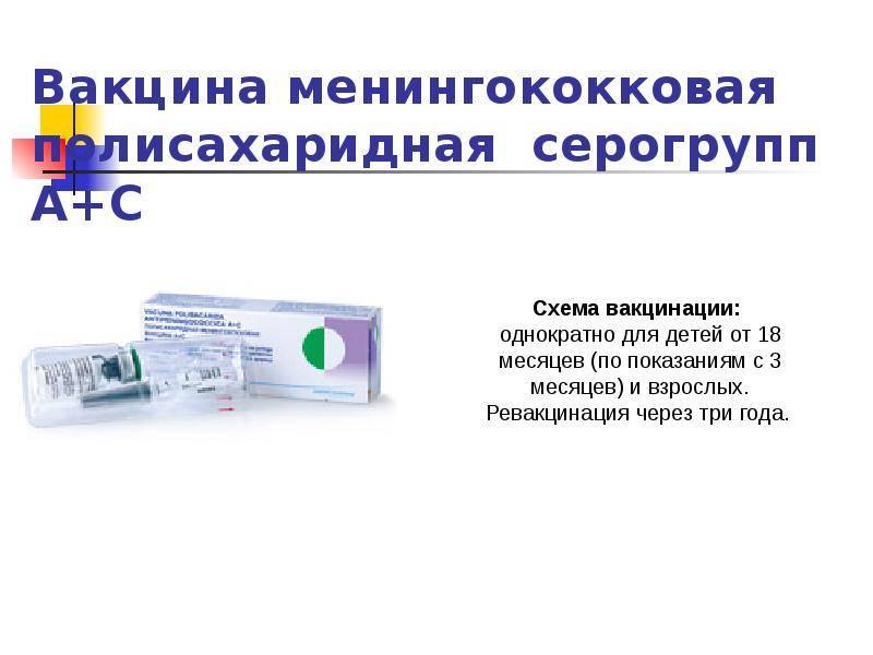 Прививка от менингококковой инфекции : инструкция по применению | компетентно о здоровье на ilive