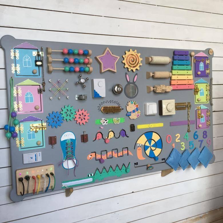 Бизиборд своими руками: изготовление из подручных материалов