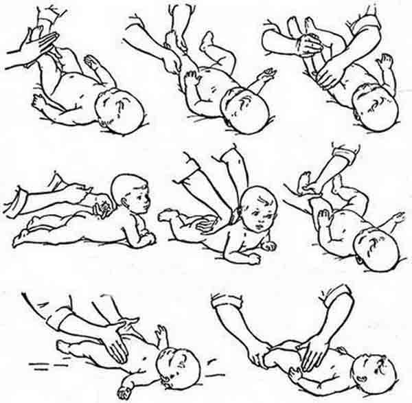 Как делать массаж новорожденному видео и основные техники