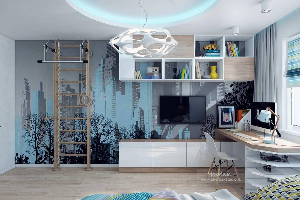 Дизайн комнаты для мальчика-подростка: идеи и фото интерьера