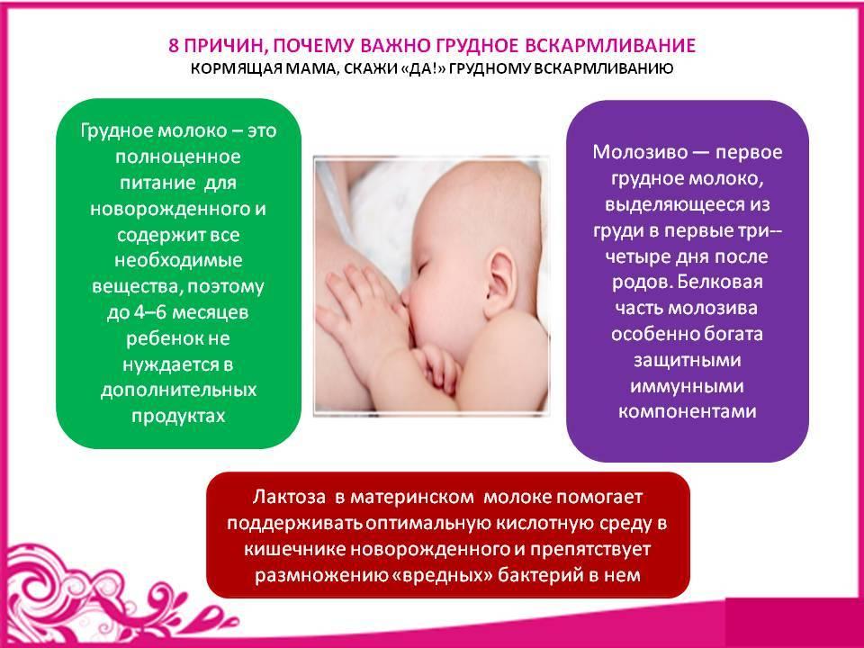 Преимущества грудного вскармливания новорожденных детей.