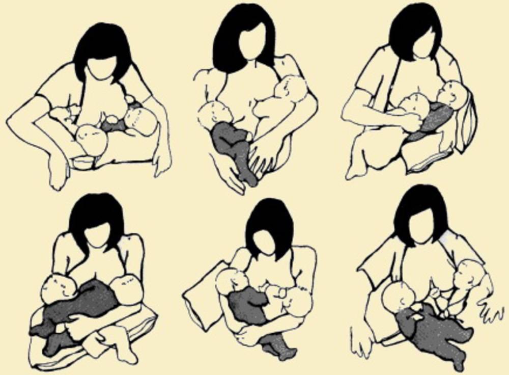 Прикладывание к груди новорожденного ребенка: правила, позы, ошибки