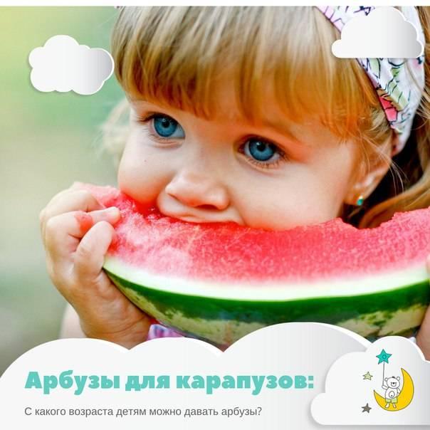 С какого возраста можно давать ребенку арбуз и дыню до года?