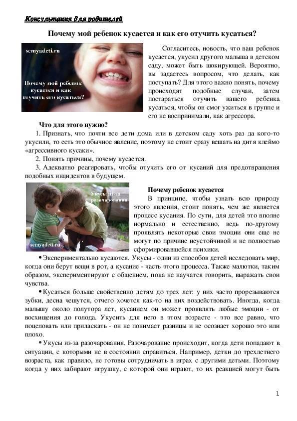Как отучить ребенка кусаться в 1-2 года: советы психолога, комаровского