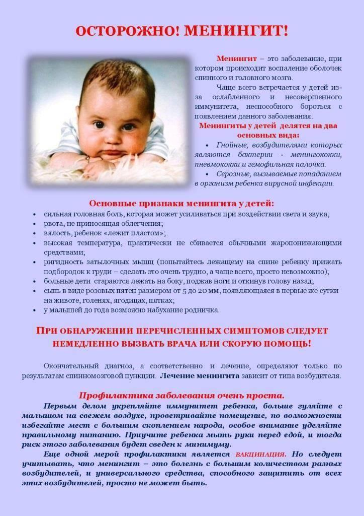 Прививка от менингококковой инфекции