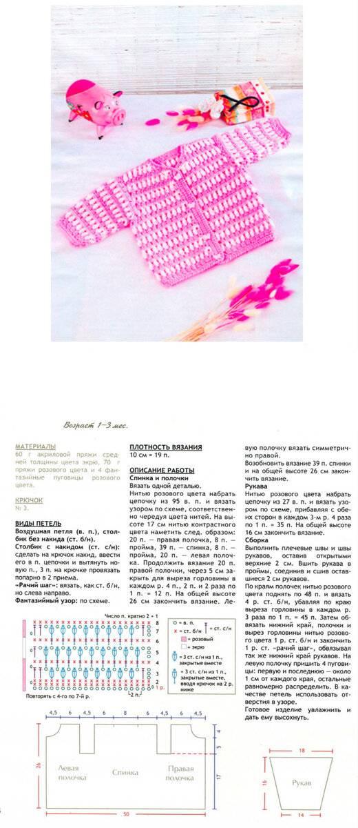 Вязание детям (спицами сверху): детские кофточки, свитер, реглан, джемпер со схемами и описанием для начинающих