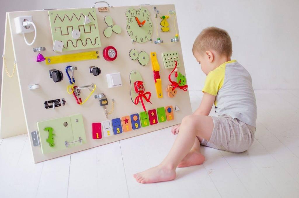 Бизиборд своими руками для мальчика и девочки