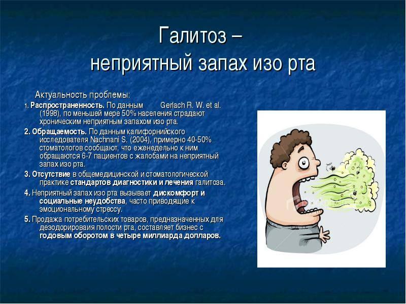 Галитоз: причины, виды и лечение неприятного запаха изо рта