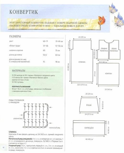 Связать конверт для новорожденного на выписку: вязание по схеме и описанию   все о рукоделии