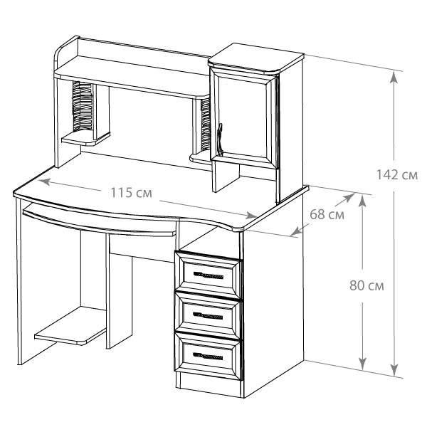 Письменный стол своими руками: чертёж, выбор материалов и инструментов, сборка