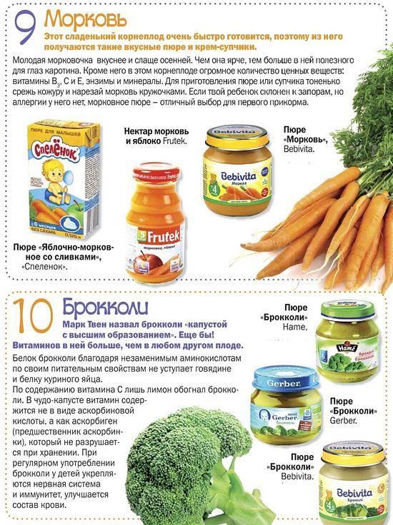 Морковное пюре для грудничка: рецепт, с какого возраста вводить в прикорм
