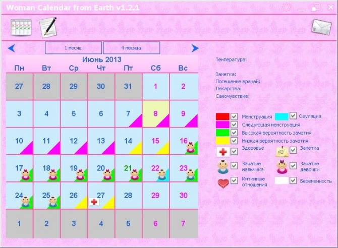Календарь зачатия: рассчитать овуляцию за 1 минуту