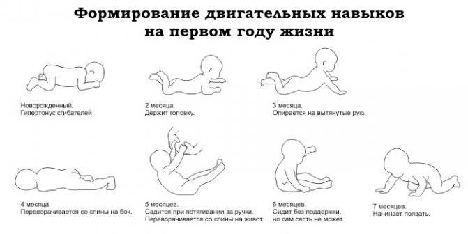 Когда ребенок начинает сидеть самостоятельно, во сколько месяцев малыш садится?