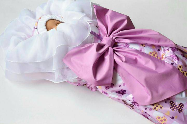 Детский конверт: выкройка, как сшить на выписку для новорожденного своими руками - швейный мир