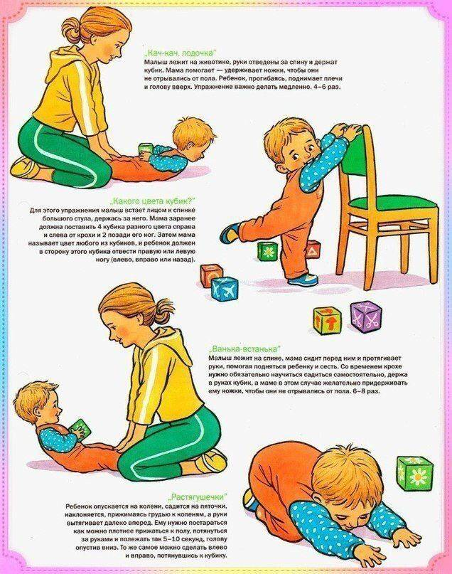 Как научить ребенка самостоятельно садиться из положения лежа
