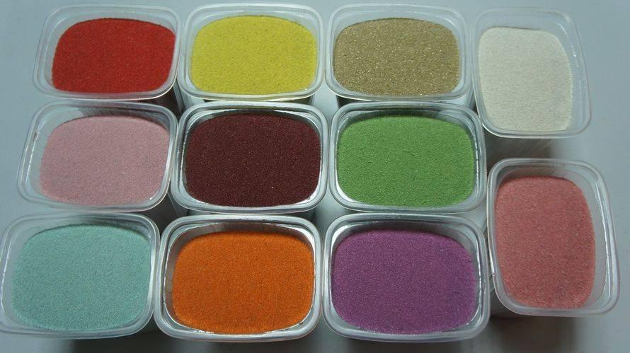 Как покрасить песок - wikihow