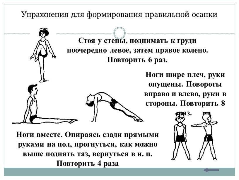 Лфк при сколиозе: программа упражнений для исправления осанки