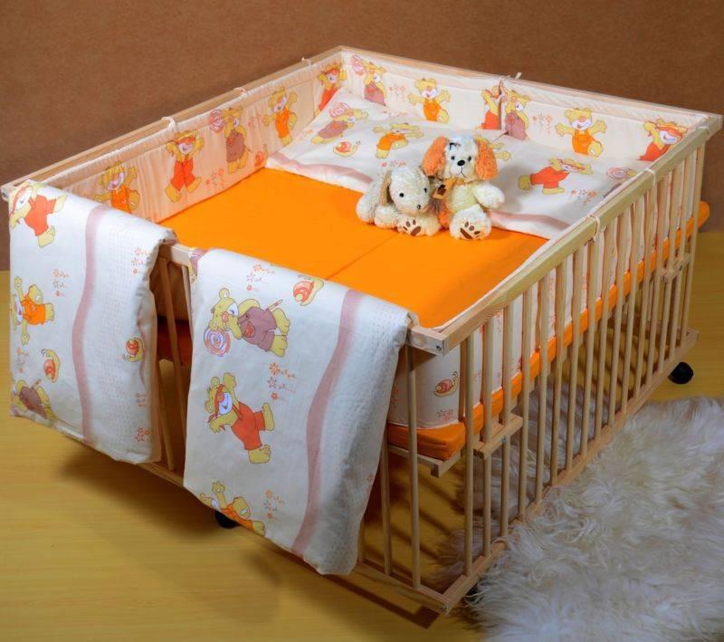 Кроватка для новорожденных двойняшек: знакомим с вопросом
