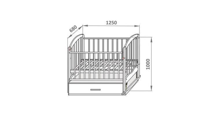 Размер детской кроватки для новорожденных стандарт